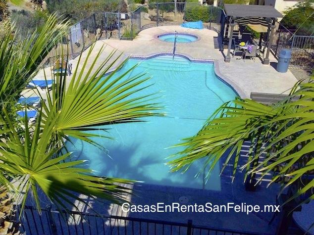 Casa para renta de San Felipe Baja: Casa de 3 habitaciones cerca de una alberca