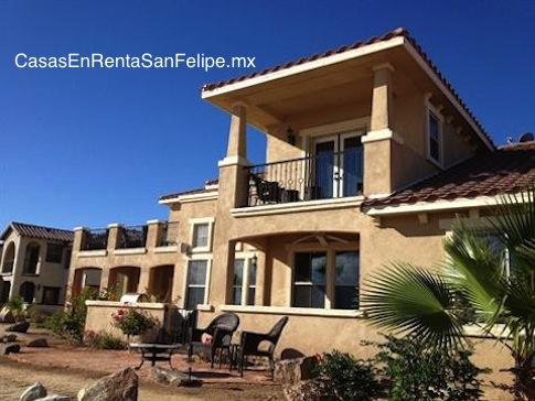 Condominio playero para renta para vacaciones en Rancho El Dorado de San Felipe, Baja California, México